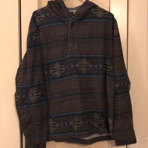 American Eagle hooded shirt size Xl